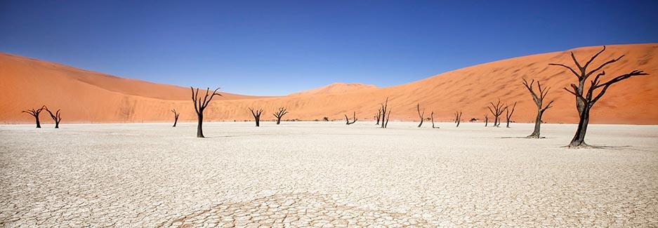 O deserto de Sossusvlei é parte do Namib-Naukluft National Park suas dunas com cerca de 2000km de comprimento, 170km de largura e surgiram há 43 milhões de anos, hoje possuem diferentes tamanhos e formas imóveis