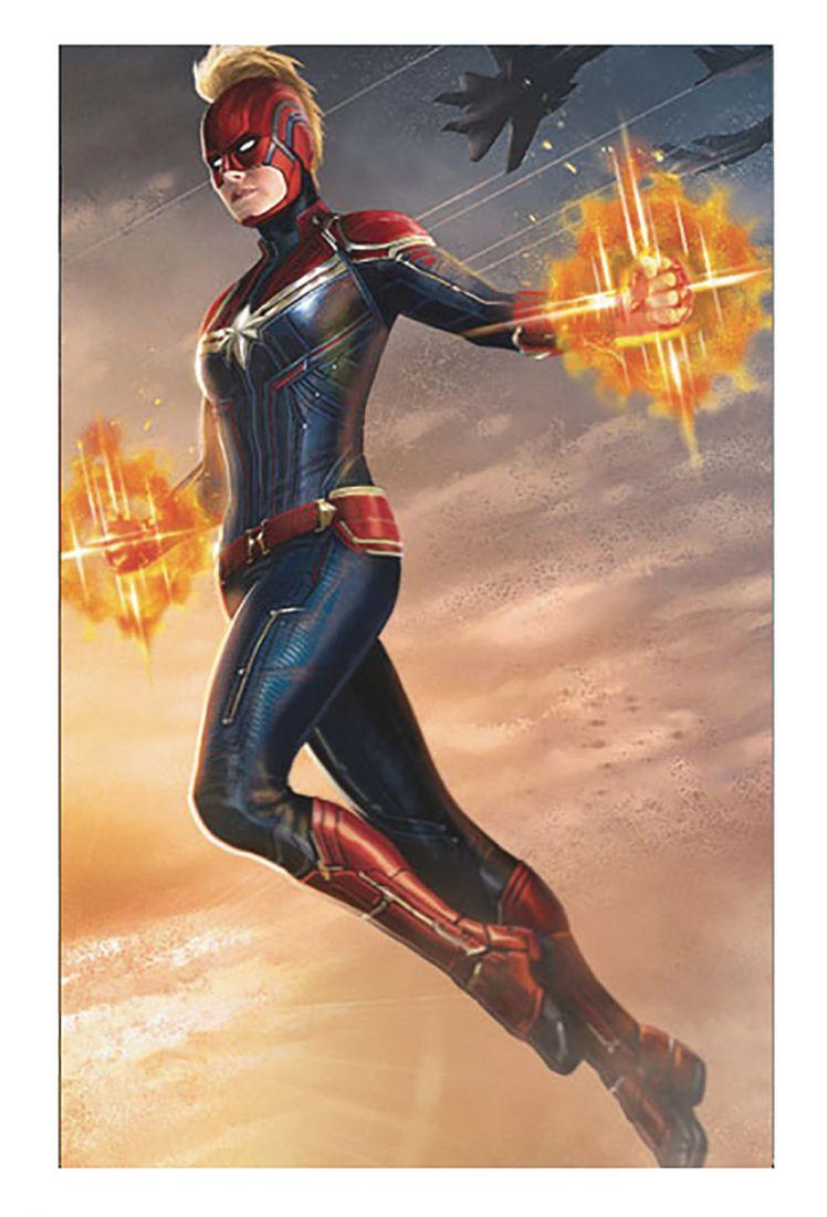 Capitã Marvel: Nova arte exibe capacete icônico