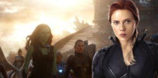 A estrela da Marvel, Scarlett Johansson, diz que está promovendo um filme feminino do Universo Cinematográfico da Marvel, mesmo que seu personagem Viúva Negra não esteja incluído no filme.